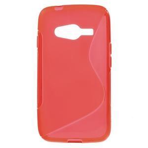 Gélové s-line puzdro na Samsung Galaxy Ace 4 - červené - 1