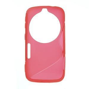 Červený s-line gélový kryt na Samsung Galaxy K Zoom C115 - 1