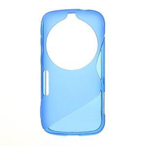 Modrý s-line gélový kryt na Samsung Galaxy K Zoom C115 - 1