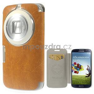 Oranžové peňaženkové puzdro na Samsung Galaxy K Zoom C115 - 1