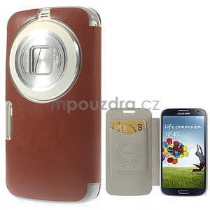 hnedé peňaženkové puzdro na Samsung Galaxy K Zoom C115 - 1