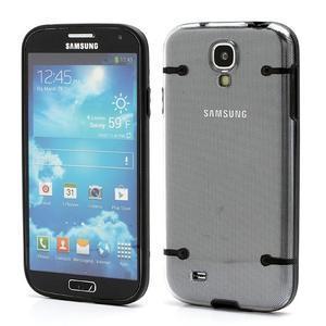 Obal pre mobil se svítícími hranami pre Samsung Galaxy S4 - čierne - 1