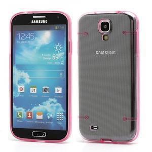 Obal pre mobil se svítícími hranami pre Samsung Galaxy S4 - ružové - 1