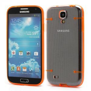 Obal pre mobil se svítícími hranami pre Samsung Galaxy S4 - oranžové - 1
