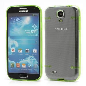 Obal pre mobil se svítícími hranami pre Samsung Galaxy S4 - zelené - 1