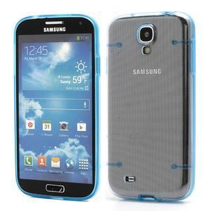 Obal pre mobil se svítícími hranami pre Samsung Galaxy S4 - modré - 1