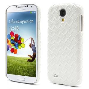 PU kožené puzdro pre Samsung Galaxy S4 - biele - 1