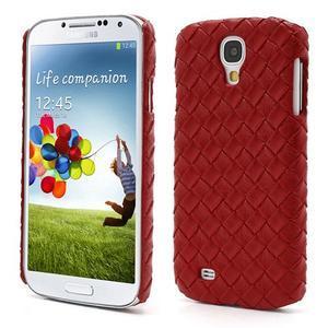 PU kožené puzdro pre Samsung Galaxy S4 - červené - 1