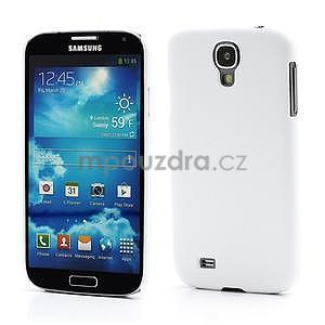 Plastové poudro na Samsung Galaxy S4 - bílé - 1