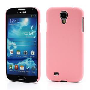 Plastové poudro na Samsung Galaxy S4 - růžové - 1
