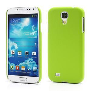 Plastové poudro na Samsung Galaxy S4 - zelené - 1