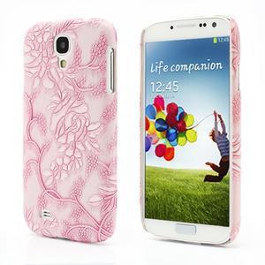 Květinové pouzdro na Samsung Galaxy S4 - růžové - 1