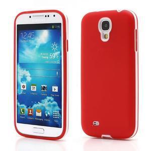 Gelové pouzdro 2v1 na Samsung Galaxy S4 - červené - 1
