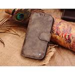 Peňaženkové puzdro z pravé kože pre Samsung Galaxy S4 - hnedá I - 1/6