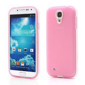 Gélové puzdro 2v1 pre Samsung Galaxy S4 - ružové - 1