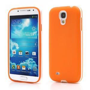 Gelové pouzdro 2v1 na Samsung Galaxy S4 - oranžové - 1