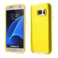 Dvoudílný obal na mobil Samsung Galaxy S7 - žlutý - 1/6