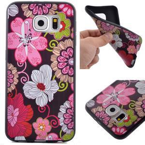 Jells gelový obal na Samsung Galaxy S7 - květiny - 1