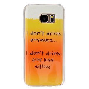 Gelový kryt na mobil Samsung Galaxy S7 - drink - 1