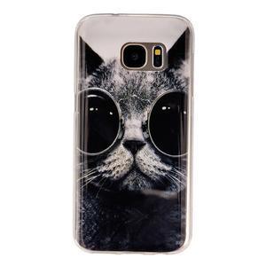 Gelový kryt na mobil Samsung Galaxy S7 - kočka mafián - 1