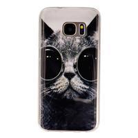 Gelový kryt na mobil Samsung Galaxy S7 - kočka mafián - 1/4