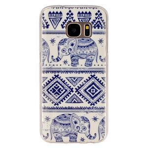Gelový kryt pre mobil Samsung Galaxy S7 - sloni - 1