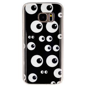 Gelový kryt na mobil Samsung Galaxy S7 - očička - 1