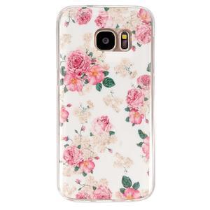 Gelový kryt pre mobil Samsung Galaxy S7 - kvetiny - 1