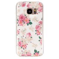 Gelový kryt pre mobil Samsung Galaxy S7 - kvetiny - 1/4