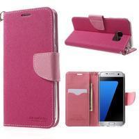Mercury Orig PU kožené pouzdro na Samsung Galaxy S7 - rose - 1/7