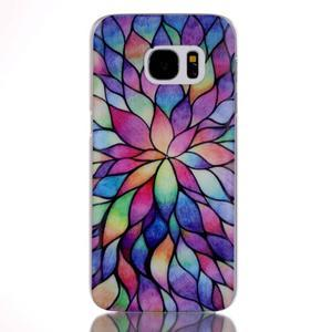 Plastový obal pre mobil Samsung Galaxy S7 - petals - 1