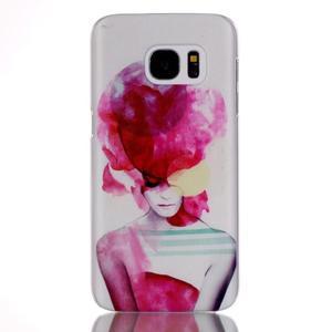 Plastový obal pre mobil Samsung Galaxy S7 - dívka - 1