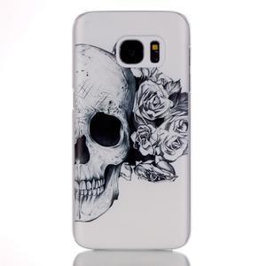Plastový obal pre mobil Samsung Galaxy S7 - lebka - 1