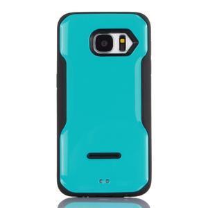 Odolný hybridný kryt pre mobil Samsung Galaxy S7 - modrý - 1