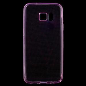 Ultratenký gélový obal pre mobil Samsung Galaxy S7 - ružový - 1