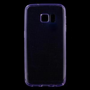 Ultratenký gelový obal na mobil Samsung Galaxy S7 - fialový - 1