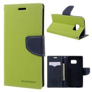 Goosper PU kožené puzdro pre Samsung Galaxy S7 - zelené - 1