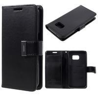 Luxury PU kožené pouzdro na Samsung Galaxy S7 - černé - 1/7