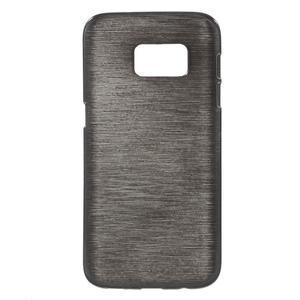 Brush gelový obal na mobil Samsung Galaxy S7 - černý - 1