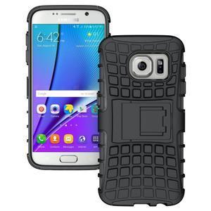 Outdoor odolný obal pre mobil Samsung Galaxy S7 - čierny - 1