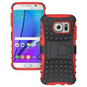 Outdoor odolný obal pre mobil Samsung Galaxy S7 - červený - 1