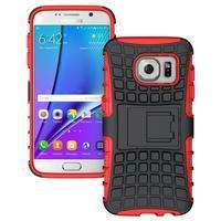 Outdoor odolný obal pre mobil Samsung Galaxy S7 - červený - 1/5