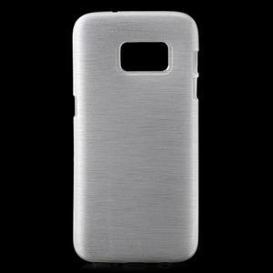 Brush gélový obal pre mobil Samsung Galaxy S7 - biely - 1