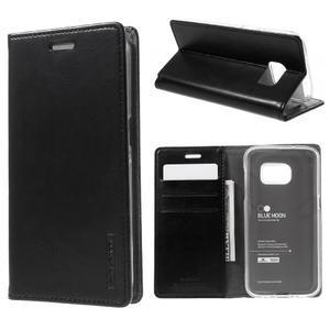 Bluemoon PU kožené pouzdro na mobil Samsung Galaxy S7 - černé - 1
