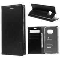 Bluemoon PU kožené puzdro pre mobil Samsung Galaxy S7 - čierne - 1/7