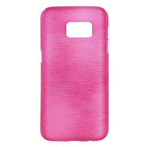 Brush gelový obal na mobil Samsung Galaxy S7 - rose - 1