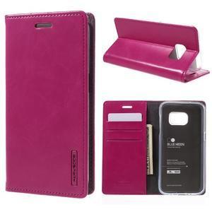 Bluemoon PU kožené pouzdro na mobil Samsung Galaxy S7 - rose - 1