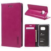 Bluemoon PU kožené pouzdro na mobil Samsung Galaxy S7 - rose - 1/7