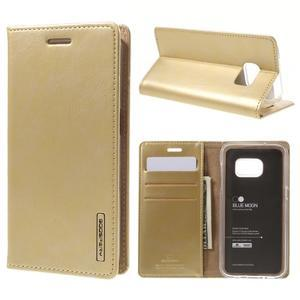 Bluemoon PU kožené pouzdro na mobil Samsung Galaxy S7 - zlaté - 1