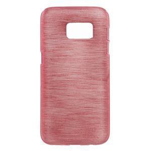 Brush gélový obal pre mobil Samsung Galaxy S7 - ružový - 1